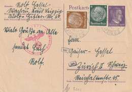 Allemagne Lettre Censurée Leipzig Pour La Suisse 1942 - Covers & Documents