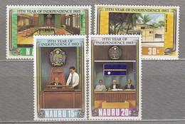 NAURU 1983 Independence Anniv MNH(**) Mi 263-266 #27443 - Nauru