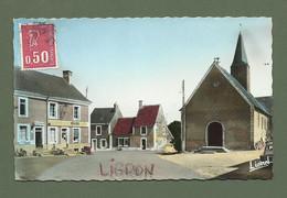 CARTE POSTALE 72 SARTHE LIGRON PLACE DE L EGLISE - Other Municipalities