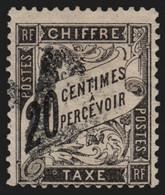 Timbres-Taxe Duval N°17, 20c Noir, Oblitéré - TB - 1859-1955 Gebraucht