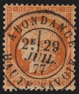 N°38, Oblitéré Càd ABONDANCE Haute-Savoie, Siège De Paris 40c Orange - SUPERBE - 1870 Besetzung Von Paris