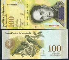 VENEZUELA P100c 100.000 BOLIVARES 13.12.2017  #B    UNC. - Venezuela