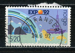 NORVEGE : EXPO 92 - Yvert N° 1052 Obl. - Oblitérés