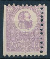 * 1871 Kőnyomat 25kr élénk Ibolya Színben, Látványos Elfogazással, Két Oldalon Vágva, Eredeti Szép Gumizással (260.000)  - Non Classificati