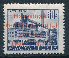 ** 1956 Soproni Kiadás Épületek II. 50f (220.000) MEFESZ Sopron Vizsgálójellel és Dr Czencz Szignóval. 200 Példányos Kia - Non Classificati
