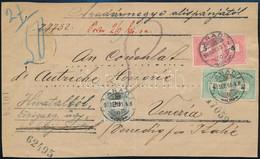1896 Nov. 23. Portó Ritkaság, Levél 10kr (2 X 5kr) Bérmentesítéssel Budapestről Velencébe (Olaszország) Küldve Arad Várm - Non Classificati