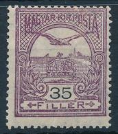 ** 1913 Turul 35f Fekvő Vízjellel (100.000) (átlós Törés / Diagonal Fold) - Non Classificati