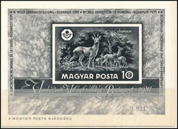 """** 1971 Vadászati Világkiállítás Fekete Nyomat """" A Magyar Posta Ajándéka"""" Felirattal,tokban (100.000) - Non Classificati"""