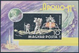 ** 1969 Apollo 11 Vágott Blokk Arany Színnyomat Nélkül (100.000) - Non Classificati