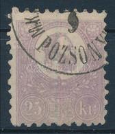 O 1871 Kőnyomat 25kr Sötét Színű Bélyeg (90.000?) (alul Kis Fogjavítás / Repaired Perf. Below.) - Non Classificati