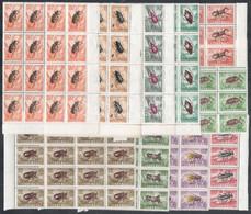 ** 1954 Rovarok 16 Db Sor, 2Ft Kivételével Tizenhatostömbökben (min. 80.000) - Non Classificati