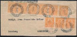 1903 Hírlap Hármas- és Hatoscsíkkal (benne Csillag Vízjel) Bérmentesített Pesti Hírlap Címszalag Marienbadi érkezési Bél - Non Classificati
