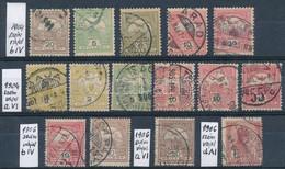 O 1904-1906 Turul 15 Db Bélyeg Különböző Számvízjelekkel (67.600) - Non Classificati