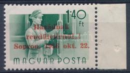 ** 1956 Sopron ívszéli 1,40Ft Hátoldalán MB Garancia Bélyegzéssel (60.000) - Non Classificati