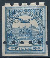 (*) 1913 Ki Nem Adott FEKVŐ Vízjeles!! Turul 25f Fogazatlan Bélyeg Látványosan Eltolódott értékjelzéssel, Nyomdai Megsem - Non Classificati