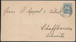 """1889 Febr. 15. 10kr Díjjegyes Boríték """"BUDAPEST FŐPOSTA / ESTE"""" - """"SCHAFFHAUSEN"""" (Svájc) Ritka Felhasználás, Külföldi De - Non Classificati"""