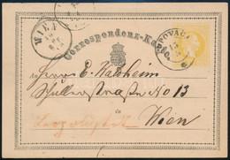 """~1870 Díjjegyes Levelezőlap """"POPOVACA"""" -""""WIEN"""" (Gudlin 800 P) - Non Classificati"""