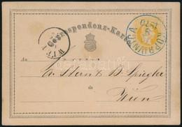 "1870 Díjjegyes Levelezőlap Kék ""KOPRIVNICA"" (Gudlin 600 P) - Non Classificati"