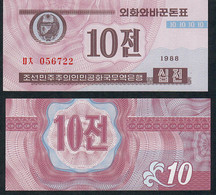KOREA NORTH PFX419 10 JEON 1988 Issued 1995 (Capitalist Issue ) UNC. - Korea, North
