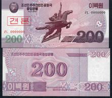 KOREA NORTH P62s 200 WON 2008 Issued 2009      UNC. - Korea, North