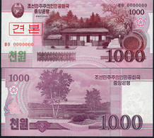 KOREA NORTH P64s 1000 WON 2008 Issued 2009      UNC. - Korea, North