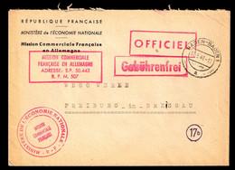391/ Dienstpost Französische Besatzung - Mission Commerciale - B.P.M. Bureau Postal Militaire - Feldpost - Zona Francesa