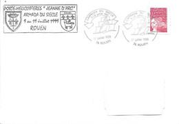 Porte-Hélicoptères Jeanne D'Arc - Armada Du Siècle Cachet Illustré Escale De Rouen - Naval Post