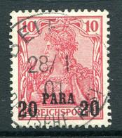 German Levant 1900 Germania - 20pa On 10pf Rose Used (SG 18) - Officina: Turquia