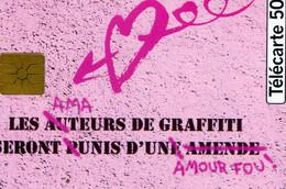 TELECARTE Les AUTEURS De GRAFFITI.  Seront Punis D'une Amende.  50 Unités - Other