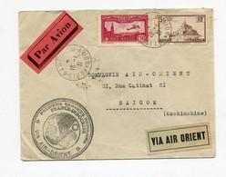 !!! 1ERS SERVICES AERIENS REGULIERS FRANCE - INDOCHINE, LETTRE PAR AVION DE PARIS POUR SAIGON DU 16/1/1931 - Air Post