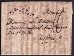 1808. CASTILLO PRÓXIMO A SAINT PALAIS. MARCA 64/ST PALAIS. PORTEO MNS. 10 DÉCIMAS. MUY INTERESANTE Y RARO ORIGEN. - 1701-1800: Precursori XVIII