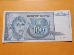 YOUGOSLAVIE 100 DINARA 1992 - Joegoslavië