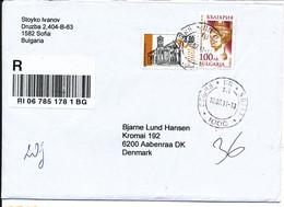 Bulgaria Registered Cover Sent To Denmark 18-7-2011 - Briefe U. Dokumente