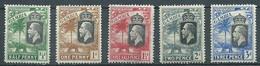 Gambie YT N°93-94-95-96-98 Roi George V Neuf/charnière * - Gambia (1965-...)
