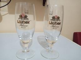 02 VERRES LICHER PILSNER - Glasses