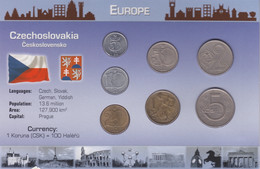CZECHOSLOVAKIA - Set 8 Coins - Edelweiss Coins - Tschechoslowakei
