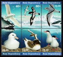 Ross Dependency - 1997 - WWF - Antarctic Seabirds - Mint Stamp Set (se-tenant Block) - Unused Stamps