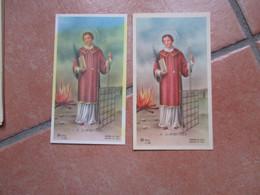 Immagini Sacre S.LARENTIUS  Edizione AR Dep. Z/181 N.2 TIPI Differenti Per Colore E FORMATO - Devotion Images