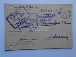 D178852    Deutsches Reich  Postkarte  -  1923 Segeberg - Sent To  Porzellanfabrik Marktredwitz -F.Thomas - Non Classés