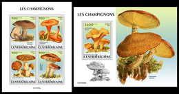 CENTRAL AFRICA 2021 - Mushrooms, M/S + S/S Official Issue [CA210205] - Mushrooms