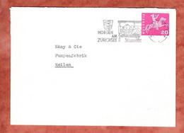 Brief, Postreiter, MS Horgen Am Zuerichsee, Nach Meilen 1963? (4108) - Lettres & Documents