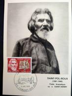 France Carte Maximum Saint -Pol -Roux 06/07/1968 2 Cartes Camaret Sur Mer Et Marseille - 1960-69