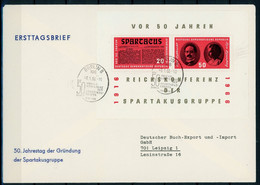 DDR MiNr. Block 25 Ersttagsbriefe/ FDC (GG1573 - FDC: Briefe