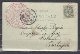 Postkaart Van D'Arras Naar Lisabon (Portugal) - Brieven En Documenten