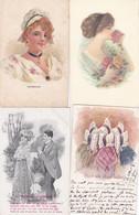 LOT DE 150 CPA  FANTAISIE :  COUPLE/ENFANTS/VOEUX/CARTES GAUFREES/DOREE/CELLULOIDE..... (pat 103/4) - 100 - 499 Postkaarten