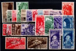Italia Nº 346/56, 357/67. Año 1934/35 - Mint/hinged