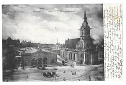 Bern. Hochschule, Bahnhof, Post, Heiliggeistkirche (6793) - BE Berne