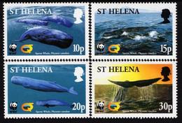 St. Helena - 2002 - WWF - Endangered Species - Sperm Whale - Mint Stamp Set - St. Helena