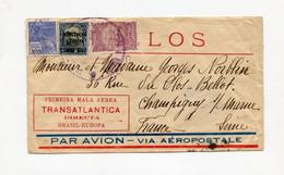 !!! LIGNE MERMOZ, LETTRE PAR AVION DU BRESIL POUR LA FRANCE, 1ERE MALLE AERIENNE TRANSATLANTIQUE BRESIL-EUROPE - Airmail