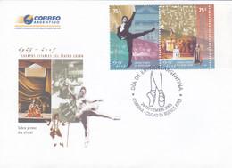 ARGENTINA. CUERPOS ESTABLES DEL TREATRO COLON, THÉÂTRE BALLET OPÉRA. 2005 FDC ENVELOPPE.- LILHU - Théâtre